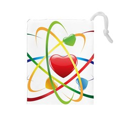 Love Drawstring Pouches (large)