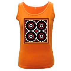 Toraja Pattern Ne limbongan Women s Dark Tank Top
