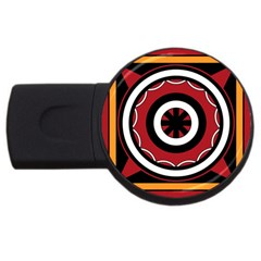 Toraja Pattern Pa barre Allo Usb Flash Drive Round (2 Gb)