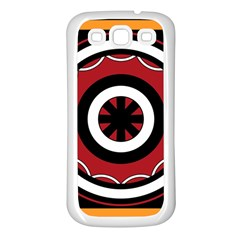 Toraja Pattern Pa barre Allo Samsung Galaxy S3 Back Case (white) by BangZart