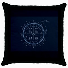 Minimalistic Knowledge Mathematics Trigonometry Throw Pillow Case (black)
