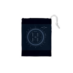 Minimalistic Knowledge Mathematics Trigonometry Drawstring Pouches (xs)