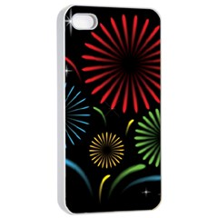 Fireworks With Star Vector Apple Iphone 4/4s Seamless Case (white)