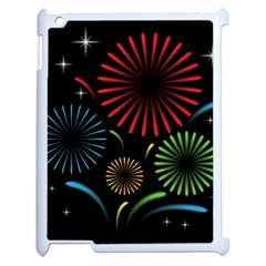 Fireworks With Star Vector Apple Ipad 2 Case (white) by BangZart