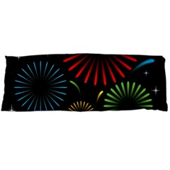 Fireworks With Star Vector Body Pillow Case Dakimakura (two Sides)