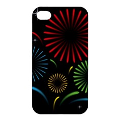 Fireworks With Star Vector Apple Iphone 4/4s Premium Hardshell Case