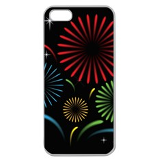 Fireworks With Star Vector Apple Seamless Iphone 5 Case (clear) by BangZart