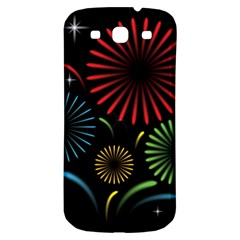 Fireworks With Star Vector Samsung Galaxy S3 S Iii Classic Hardshell Back Case