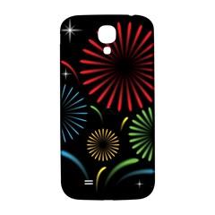 Fireworks With Star Vector Samsung Galaxy S4 I9500/i9505  Hardshell Back Case