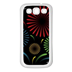 Fireworks With Star Vector Samsung Galaxy S3 Back Case (white)