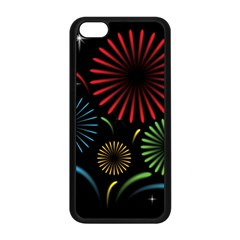 Fireworks With Star Vector Apple Iphone 5c Seamless Case (black) by BangZart
