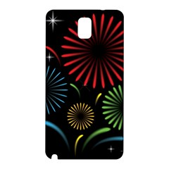 Fireworks With Star Vector Samsung Galaxy Note 3 N9005 Hardshell Back Case