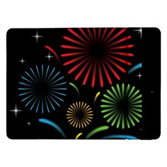 Fireworks With Star Vector Samsung Galaxy Tab Pro 12 2  Flip Case
