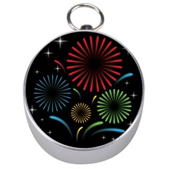 Fireworks With Star Vector Silver Compasses by BangZart