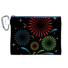 Fireworks With Star Vector Canvas Cosmetic Bag (xl) by BangZart