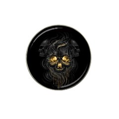 Art Fiction Black Skeletons Skull Smoke Hat Clip Ball Marker