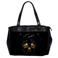 Art Fiction Black Skeletons Skull Smoke Office Handbags