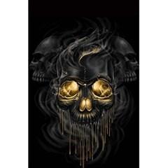 Art Fiction Black Skeletons Skull Smoke 5 5  X 8 5  Notebooks by BangZart