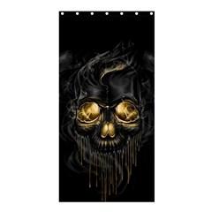 Art Fiction Black Skeletons Skull Smoke Shower Curtain 36  X 72  (stall)  by BangZart