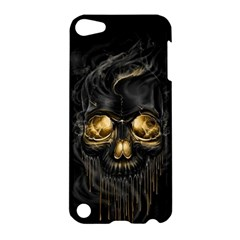 Art Fiction Black Skeletons Skull Smoke Apple Ipod Touch 5 Hardshell Case