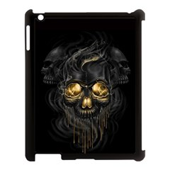 Art Fiction Black Skeletons Skull Smoke Apple Ipad 3/4 Case (black) by BangZart