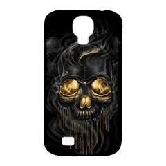 Art Fiction Black Skeletons Skull Smoke Samsung Galaxy S4 Classic Hardshell Case (pc+silicone) by BangZart