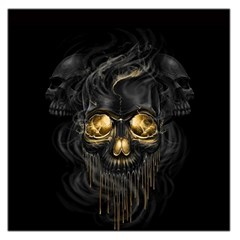 Art Fiction Black Skeletons Skull Smoke Large Satin Scarf (square)