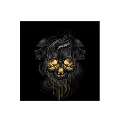 Art Fiction Black Skeletons Skull Smoke Satin Bandana Scarf by BangZart