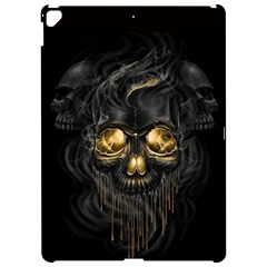 Art Fiction Black Skeletons Skull Smoke Apple Ipad Pro 12 9   Hardshell Case