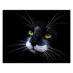 Face Black Cat Rectangular Jigsaw Puzzl by BangZart