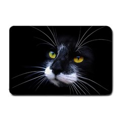 Face Black Cat Small Doormat