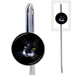 Face Black Cat Book Mark