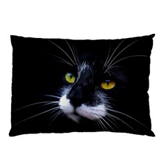 Face Black Cat Pillow Case (two Sides) by BangZart