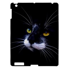 Face Black Cat Apple Ipad 3/4 Hardshell Case