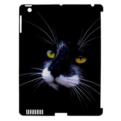 Face Black Cat Apple Ipad 3/4 Hardshell Case (compatible With Smart Cover) by BangZart