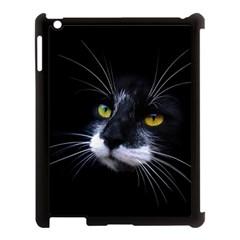 Face Black Cat Apple Ipad 3/4 Case (black)