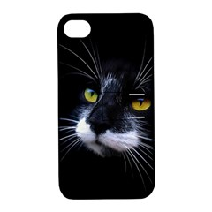 Face Black Cat Apple Iphone 4/4s Hardshell Case With Stand by BangZart