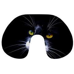 Face Black Cat Travel Neck Pillows by BangZart