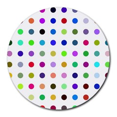 Circle Pattern Round Mousepads