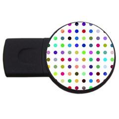 Circle Pattern Usb Flash Drive Round (4 Gb)