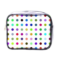 Circle Pattern Mini Toiletries Bags by BangZart
