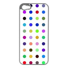 Circle Pattern Apple Iphone 5 Case (silver)
