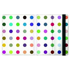 Circle Pattern Apple Ipad 2 Flip Case