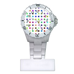 Circle Pattern Plastic Nurses Watch by BangZart