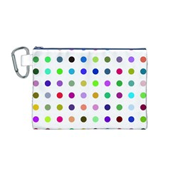 Circle Pattern Canvas Cosmetic Bag (m) by BangZart