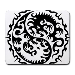 Ying Yang Tattoo Large Mousepads