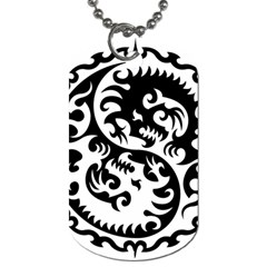 Ying Yang Tattoo Dog Tag (one Side) by BangZart