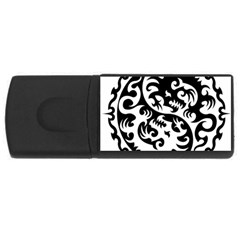 Ying Yang Tattoo Rectangular Usb Flash Drive