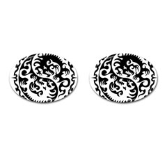 Ying Yang Tattoo Cufflinks (oval) by BangZart
