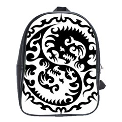 Ying Yang Tattoo School Bags(large)